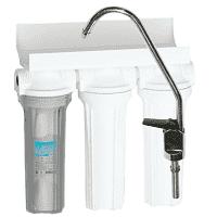 Фильтр 3 ступени (прозрачный, механический, уголь, умягчение)